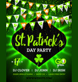 17 march saint patricks day party bright vector image vector image