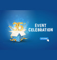35 th years anniversary banner with open burst vector image vector image