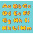 abc bold retro vector image