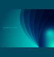 abstract blue background curved layers with vector image vector image