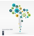 Abstract education background Growth flower vector image vector image