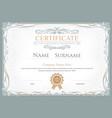 achievement certificate flourishes elegant vector image