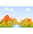 Autumn park vector image vector image
