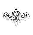 baroque ornament in victorian style ornate vector image