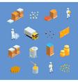 Beekeeping Apiary Isometric Icons Set vector image vector image