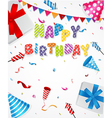 Birthday party background vector image vector image