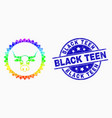 bright dotted cow seal stamp icon and vector image vector image