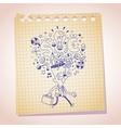 business idea concept note paper cartoon sketch vector image vector image