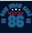 California t-shirt graphics vector image vector image