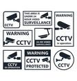 cctv icons security camera symbols vector image vector image
