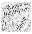 Choosing the Right Home Owners Insurance for Your vector image vector image