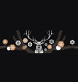 christmas deer with baubles with crystals inside vector image vector image
