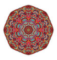 colorful tribal ethnic mandala festive abstract vector image