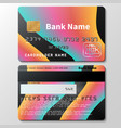 credit card template with futuristic vector image vector image