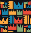 crown pattern cute color style vector image vector image