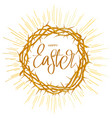 crown thorns easter religious symbol of vector image vector image