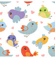 cute colorful birds seamless pattern design vector image vector image