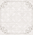 Damask background with vintage frame vector image vector image