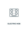 electric hob icon thin style design from vector image
