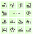 factory icons vector image vector image