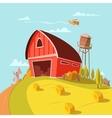 Farm Building Cartoon Background