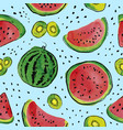 fruit watercolor pattern vector image