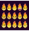 funny cartoon fire character vector image vector image