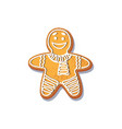 gingerbread man cookie isolated vector image vector image