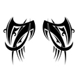 Graphic Tribal tattoo wings vector image vector image