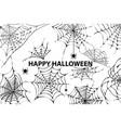 happy halloween cobweb spiders vector image