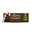 holiday banner for christmas and new year vector image vector image