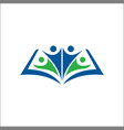 human book education logo icon template vector image