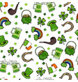 irish simbols seamless backgroung vector image vector image
