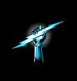 lightning bolt vector image vector image
