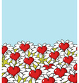 Love flower landscape Chamomile meadow Blue sky vector image vector image