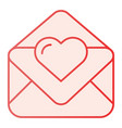 love letter flat icon valentine card pink icons vector image