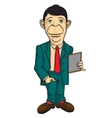 Man office worker vector image vector image