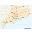 map southern chinese province guangdong vector image vector image