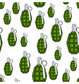 military grenade pattern vector image