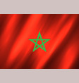 morocco flag background vector image