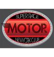 Motorcycle club new york racing motorcycle vintage vector image