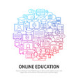 online education circle concept vector image vector image