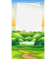 paper template with park background vector image vector image
