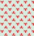 pattern by Valentines Day with cute cartoon sloth vector image