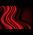 red silk fabric wave curve 3d background vector image