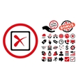 Reject Flat Icon with Bonus vector image vector image