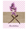 Retro Provence style Lavender Card with flowers vector image vector image