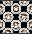 round cups coffee cacao or hot chocolate vector image