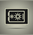 safe icon black and white vector image vector image