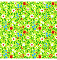 seamless pattern bright spring flowers vector image vector image